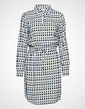 Minus Noelle Dress L/S Knelang Kjole Blå Minus