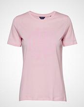 Gant O1. Monogram Ss T-Shirt T-shirts & Tops Short-sleeved Rosa GANT