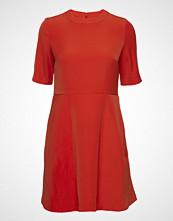 Calvin Klein Flared Satin Dress Kort Kjole Rød CALVIN KLEIN JEANS