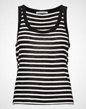 T by Alexander Wang Striped Slub Jersey Tank T-shirts & Tops Sleeveless Svart T BY ALEXANDER WANG