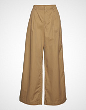 GAP Hi-Rise Pleated Wide Leg Jpn Vide Bukser Brun GAP