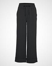 Ganni Heavy Crepe Wide Pants Vide Bukser Svart GANNI