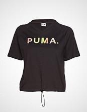 Puma Chase V Tee T-shirts & Tops Short-sleeved Svart PUMA