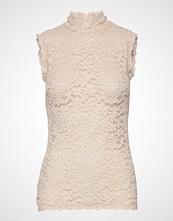 Rosemunde Top T-shirts & Tops Sleeveless Creme Rosemunde