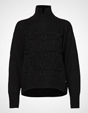 Karl Lagerfeld Soutache Detail Sweater Høyhalset Pologenser Svart KARL LAGERFELD