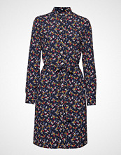 Gant D1. Scribbled Floral Shirt Dress Knelang Kjole Blå GANT
