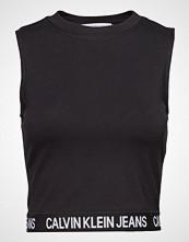 Calvin Klein Milano Tank T-shirts & Tops Sleeveless Svart CALVIN KLEIN JEANS