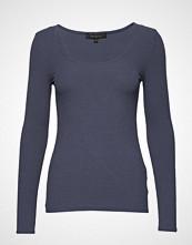 Soft Rebels Cali Scoop Neck Ls Blouse T-shirts & Tops Long-sleeved Blå SOFT REBELS