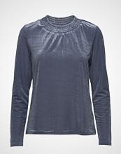 Cream Camily Velvet Ls Tshirt T-shirts & Tops Long-sleeved Blå CREAM