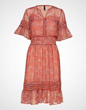 Yas Yasholia Ss Midi Dress Knelang Kjole Rosa YAS
