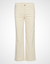 Mango Corduroy Straight Trousers Vide Bukser Creme MANGO