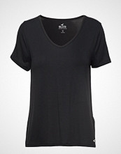 Hollister Easy Vee Tee T-shirts & Tops Short-sleeved Svart HOLLISTER