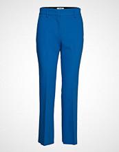 MSGM Heavy Double Crepe Cady Pants Bukser Med Rette Ben Blå MSGM