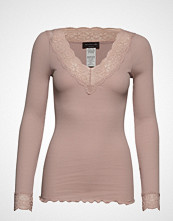 Rosemunde Organic T-Shirt V-Neck Regular Ls W T-shirts & Tops Long-sleeved Rosa ROSEMUNDE