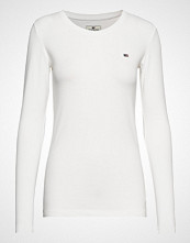 Lexington Clothing Thelma Solid Tee T-shirts & Tops Long-sleeved Hvit LEXINGTON CLOTHING