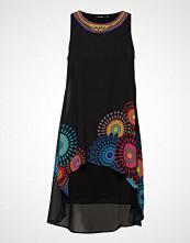 Desigual Vest Portia Knelang Kjole Svart DESIGUAL