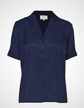 Minus Sella Shirt Bluse Kortermet Blå MINUS