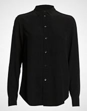 Filippa K Classic Silk Shirt Langermet Skjorte Svart FILIPPA K