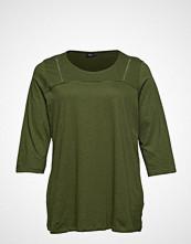 Zizzi Mholly, 3/4, Top T-shirts & Tops Long-sleeved Grønn ZIZZI