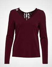 Vero Moda Vmmilla Lace Ls Blouse Color T-shirts & Tops Long-sleeved Rød VERO MODA