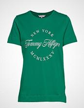 Tommy Hilfiger Livia C-Nk Tee Ss, L T-shirts & Tops Short-sleeved Grønn TOMMY HILFIGER