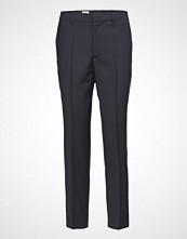 Filippa K Emma Cropped Cool Wool Trouser Bukser Med Rette Ben Blå FILIPPA K