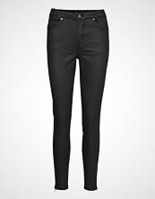 Denim Hunter Celina High Coated Zip Custom Skinny Jeans Svart DENIM HUNTER