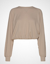Hollister Longsleeve Boyfriend Top T-shirts & Tops Long-sleeved Beige HOLLISTER