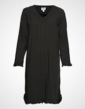 Saint Tropez U6025, Woven Dress On Knee Knelang Kjole Svart SAINT TROPEZ