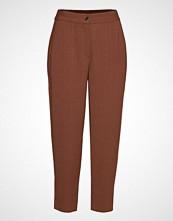 Coster Copenhagen Pants W. Elasticband - Sille Fit Bukser Med Rette Ben Brun COSTER COPENHAGEN
