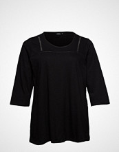 Zizzi Mholly, 3/4, Top T-shirts & Tops Long-sleeved Svart ZIZZI