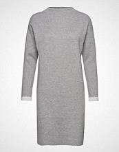 Esprit Casual Dresses Flat Knitted Knelang Kjole Grå ESPRIT CASUAL