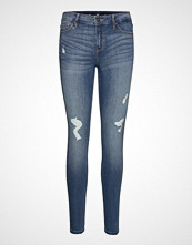 Hollister Medium Rise Super Skinny Skinny Jeans Blå HOLLISTER