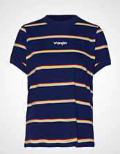 Wrangler 80´S Regular Tee T-shirts & Tops Short-sleeved Blå WRANGLER