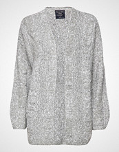 Abercrombie & Fitch Cable Sweater Strikkegenser Cardigan Grå ABERCROMBIE & FITCH
