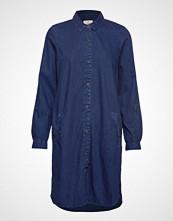 Esprit Casual Dresses Denim Knelang Kjole Blå ESPRIT CASUAL