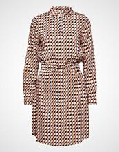 Minus Noelle Dress L/S Knelang Kjole Brun MINUS