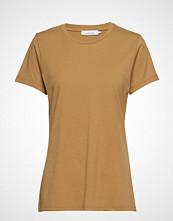Samsøe & Samsøe Solly Tee Solid 205 T-shirts & Tops Short-sleeved Gul SAMSØE & SAMSØE