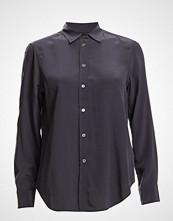 Filippa K Classic Silk Shirt Langermet Skjorte Blå FILIPPA K
