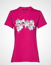 Karl Lagerfeld Orchid Logo T-Shirt T-shirts & Tops Short-sleeved Rosa KARL LAGERFELD