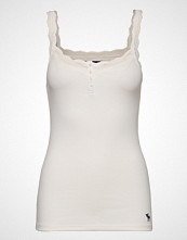 Abercrombie & Fitch Icon Lace Cami T-shirts & Tops Sleeveless Hvit ABERCROMBIE & FITCH
