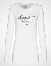 Lexington Clothing Thelma Logo Tee T-shirts & Tops Long-sleeved Hvit LEXINGTON CLOTHING