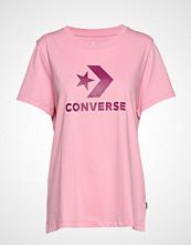 Converse Converse Star Chevron Tee T-shirts & Tops Short-sleeved Rosa CONVERSE