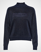 Lee Jeans Lurex Knit Høyhalset Pologenser Blå LEE JEANS