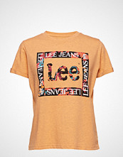 Lee Jeans Floral Graphic Tee T-shirts & Tops Short-sleeved Oransje LEE JEANS