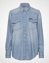 Calvin Klein Foundation Western S Langermet Skjorte Blå CALVIN KLEIN JEANS