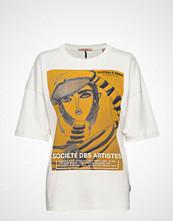 Scotch & Soda Loose Fit Short Sleeve Tee With Artwork T-shirts & Tops Short-sleeved Hvit SCOTCH & SODA