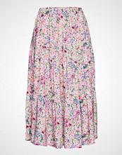 Lollys Laundry Morning Skirt Knelangt Skjørt Rosa LOLLYS LAUNDRY