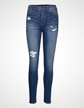 Hollister High Rise Super Skinny Skinny Jeans Blå HOLLISTER