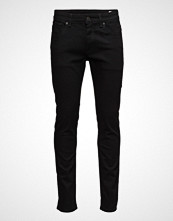 Selected Homme Slhslim-Leon 1001 Black St Jns W Noos Slim Jeans Svart SELECTED HOMME